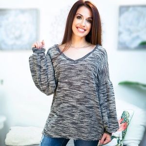 READY FOR FALL chunky vneck knit top